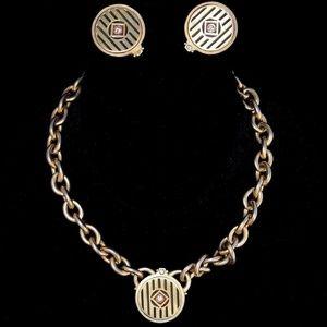 VTG ROXANNE ASSOULIN Necklace & Earring Set